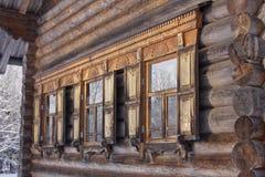 Architettura di legno russa Fotografia Stock
