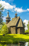 Architettura di legno, salvatore misericordioso della chiesa Immagine Stock Libera da Diritti
