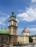 Architettura di lvov Ucraina fotografie stock