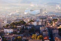 Architettura di Marsiglia - vista aerea Fotografia Stock