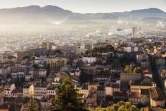 Architettura di Marsiglia - vista aerea ad alba Fotografie Stock