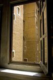 Architettura di Roma del cortile della residenza della finestra del Vaticano Fotografia Stock