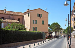 Architettura di Saint Tropez della città Immagine Stock