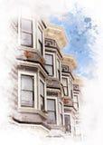 Architettura di San Francisco, California - U.S.A. Immagini Stock