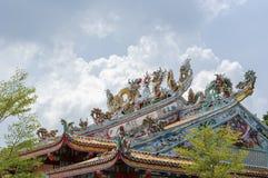 Architettura di stile cinese del tetto Immagini Stock Libere da Diritti