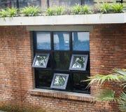 Architettura di stile sovietico della finestra Fotografie Stock Libere da Diritti