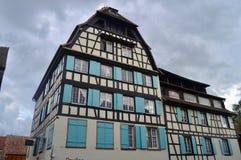 Architettura di Strasburgo, l'Alsazia, Francia Immagini Stock Libere da Diritti