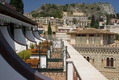 Architettura di Taormina Sicilia Immagini Stock