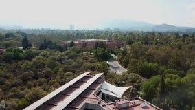 Architettura di UNAM, Instituto de Ecologia, LANCIS, Instituto de biologia, giardino botanico, riserva ecologica stock footage