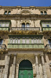 Architettura di Valletta - Malta Fotografie Stock Libere da Diritti