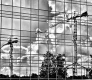 Architettura di Varsavia Sguardo artistico in bianco e nero Fotografia Stock Libera da Diritti