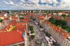 Architettura di vecchia città a Danzica Fotografia Stock