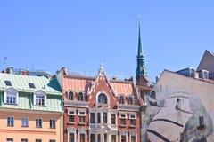 Architettura di vecchia città riga latvia Fotografia Stock Libera da Diritti