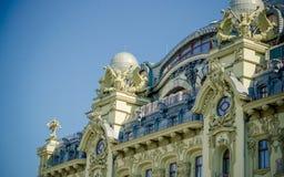 Architettura di vecchie costruzioni a Odessa Fotografia Stock Libera da Diritti