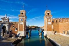 Architettura di Venezia L'Italia Immagine Stock