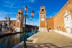 Architettura di Venezia L'Italia Fotografie Stock