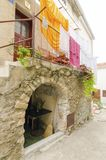 Architettura di Vrbnik, Krk, Croazia Fotografia Stock