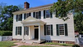 Architettura di Williamsburg del coloniale fotografie stock libere da diritti