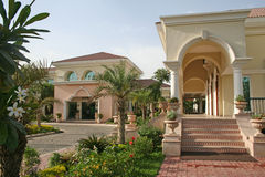 Architettura domestica reale ricca eccellente raffinata Fotografie Stock