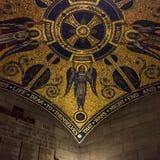 Architettura dorata del soffitto Fotografia Stock