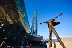 Architettura e scultura in città cinese Fotografia Stock Libera da Diritti
