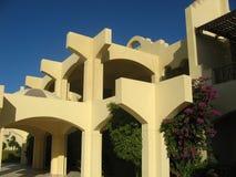 Architettura egiziana dell'hotel Fotografie Stock Libere da Diritti