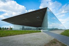 Architettura estone del museo nazionale in Tartu, Estonia fotografia stock libera da diritti