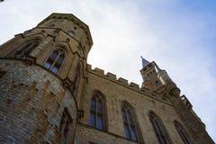 Architettura europea tedesca De antico del castello di Burg Hohenzollern Immagini Stock Libere da Diritti