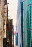 Architettura finanziaria del distretto di Pudong fotografia stock