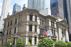 Architettura francese in Chicago Fotografie Stock