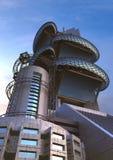 Architettura futuristica con le strutture ovali Immagini Stock