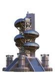 Architettura futuristica con le strutture ovali Fotografie Stock