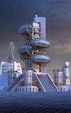 Architettura futuristica con le strutture ovali Fotografie Stock Libere da Diritti