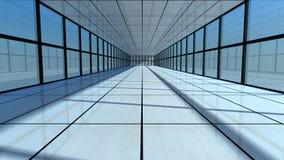 architettura futuristica 3d Fotografie Stock