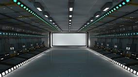 architettura futuristica 3d Fotografie Stock Libere da Diritti