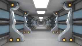 Architettura futuristica del corridoio Immagine Stock