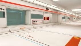 Architettura futuristica del corridoio Fotografie Stock Libere da Diritti
