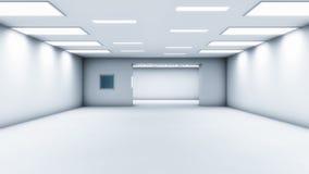 Architettura futuristica del corridoio Immagini Stock Libere da Diritti