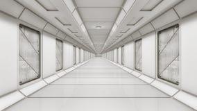Architettura futuristica del corridoio Immagine Stock Libera da Diritti