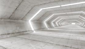 Architettura futuristica del corridoio Fotografia Stock Libera da Diritti