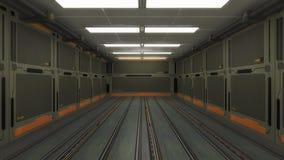 Architettura futuristica del corridoio Fotografia Stock