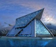 architettura futuristica del tecnologo 3D Fotografia Stock Libera da Diritti