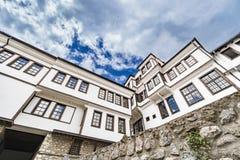 Architettura generica della casa tradizionale dell'urania in Macedonia fotografia stock libera da diritti