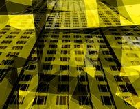 Architettura gialla Fotografia Stock