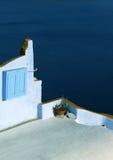 Architettura greca dell'isola Fotografia Stock