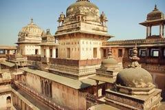Architettura indiana del XVII secolo, fortezza Jahangir Mahal Fotografie Stock