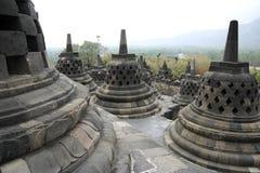 Architettura Indonesia del tempiale di Borobudur fotografie stock libere da diritti