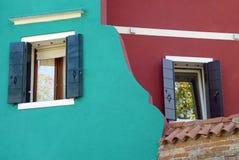 Architettura interessante in Burano Fotografia Stock Libera da Diritti