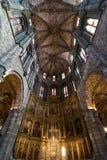 Architettura interna in cattedrale di Avila, Spagna Immagini Stock Libere da Diritti