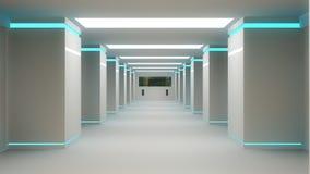 Architettura interna futuristica Fotografie Stock Libere da Diritti